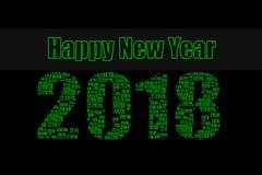 Happy New Year 2018 green Stock Image