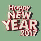 Happy New Year 2017 green background Stock Photo