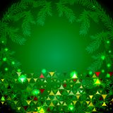 Happy New Year green background Stock Photography