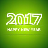 2017 Happy New Year on green background. Stock vector Stock Photography
