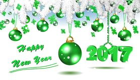 Happy New Year,green 3D illustration. Best Royalty Free Stock Images