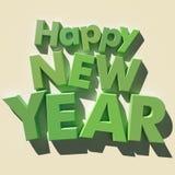 Happy New Year green Stock Photos