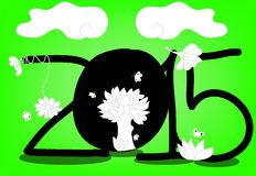Happy new year. This year is green world Royalty Free Stock Photo