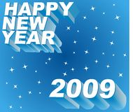 Happy new year greeting. Happy new year 2009 greeting card stock illustration
