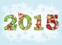 Happy New 2015 Year greeting background Stock Photo
