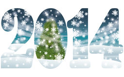 Happy New 2014 Year greeting banner Royalty Free Stock Photo