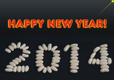 Happy new year greeting for 2014 Stock Images