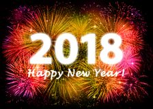 2018 Happy New Year. Greeting card Stock Image