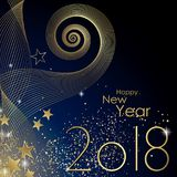 Happy New year 2018. Greeting card Stock Photography