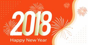 Happy new Year Greeting 2018. Card Stock Photos