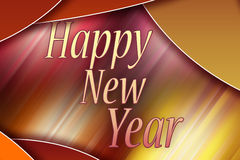 Happy New Year - Greeting card Stock Images