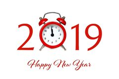 Happy New Year 2019. New Year greeting card stock image