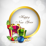 Happy New Year greeting card. EPS 10 Royalty Free Stock Photo