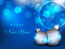 Happy New Year greeting card. EPS 10 royalty free illustration