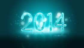 Happy new year. 2014, greeting card vector illustration