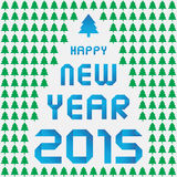 Happy new year 2015 greeting card9. Card for Happy New Year 2015 Royalty Free Stock Images