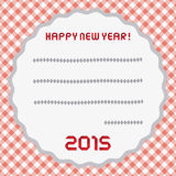 Happy new year 2015 greeting card10 Stock Images