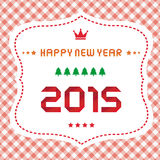 Happy new year 2015 greeting card12 Stock Photography