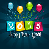Happy New Year 2015. Greeting Card Royalty Free Illustration