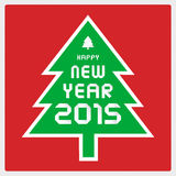 Happy new year 2015 greeting card14 Royalty Free Stock Images