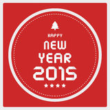Happy new year 2015 greeting card16 Stock Images