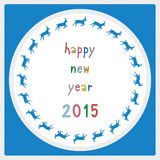 Happy new year 2015 greeting card19 Royalty Free Stock Photos