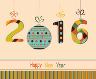 Happy New Year 2016. Greeting card vector illustration