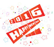 Happy new year 2016 greeting card.  Stock Photography