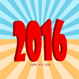 Happy New Year 2016. Greeting card Royalty Free Stock Photo