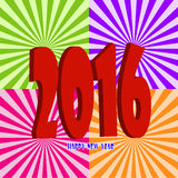 Happy New Year 2016. Greeting card Stock Photo