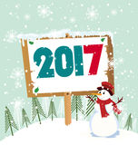 Happy New Year greeting card 2017 Royalty Free Stock Images