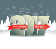 Happy New Year 2017 greeting card.  Stock Photography