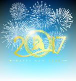 Happy New Year greeting card 2017 Stock Photo