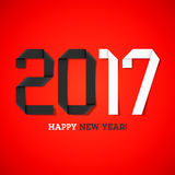 Happy new year 2017. Greeting card Stock Photos