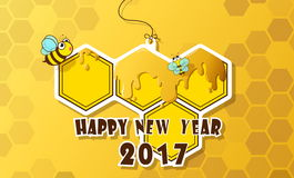 Happy new year. Greeting card happy new year 2017 stock illustration