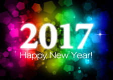 2017 Happy New Year. Greeting card Stock Images