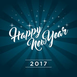Happy New Year 2017. Greeting card Royalty Free Stock Images