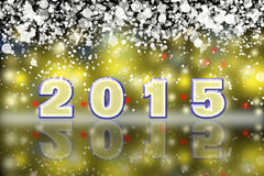 Happy New Year 2015. Greeting New year card in 2015. Abstract night city Stock Image