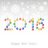2016 Happy New Year greeting card or background with Christmas b Royalty Free Stock Photos