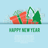 Happy New Year greeting card, background vector design template royalty free illustration