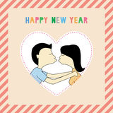 Happy new year greeting card10 Stock Photography
