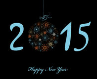 Happy New Year 2015 greeting card. Happy New Year 2015 greeting card in bright colors Stock Images
