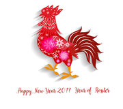 2017 Happy New Year greeting card. Celebration Chinese New Year of the Rooster. lunar new year. 2017 Happy New Year greeting card. Chinese New Year of the Royalty Free Stock Photography