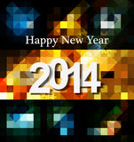 Happy New Year Greeting card 2014 celebration mosa. Ice texture background Royalty Free Stock Photography