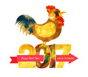 2017 Happy New Year greeting card. Chinese New Year of the Rooster. 2017 Happy New Year greeting card. Chinese New Year of the Rooster Royalty Free Stock Image