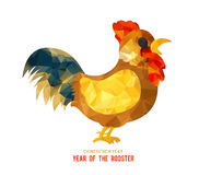 2017 Happy New Year greeting card. Chinese New Year of the Rooster. 2017 Happy New Year greeting card. Chinese New Year of the Rooster Stock Images
