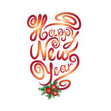 Happy New Year greeting card. Christmas sign. Royalty Free Stock Photography