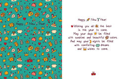Happy new year greeting card. Royalty Free Stock Photo