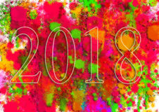 Happy New Year Greeting Card .Colorful backgrounds for design illustration. Abstract random pattern, Images for Colorful backgrounds for design illustration Stock Images