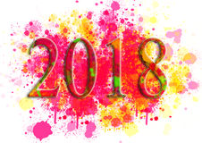 Happy New Year Greeting Card .Colorful backgrounds for design illustration Stock Image